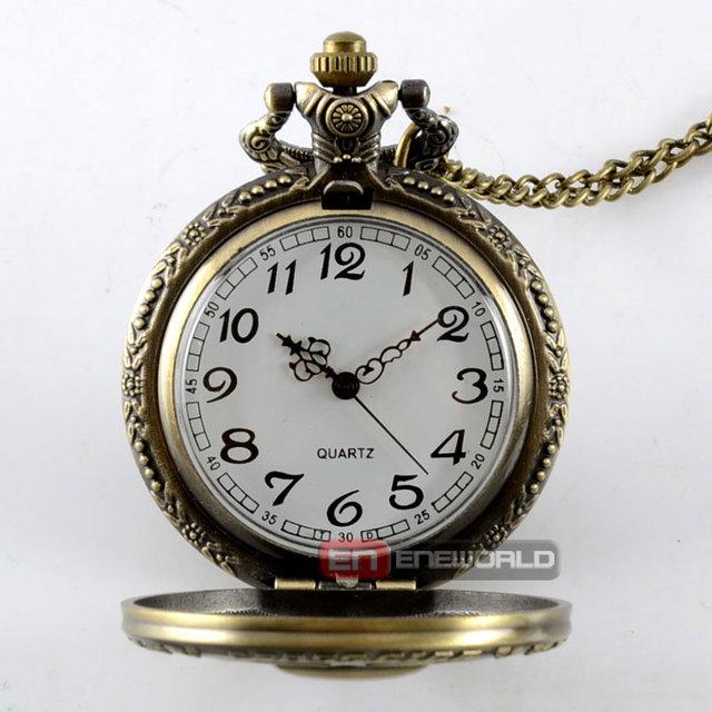 Gothic Hollow skeleton Pocket Watch