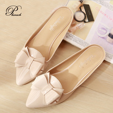New fashion bow point toe slippers womens sandals summer 2016 women shoes 34-43(China (Mainland))