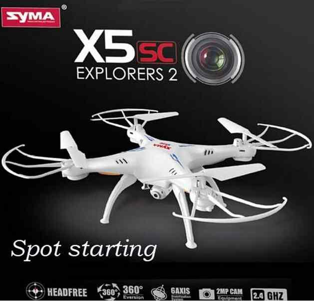 2.4G 4channel Syma X5SC Drone With Camera 6 Axis Gyro HD aerial Quadcopter Remote Control Aircraft Rc Airplane TOY(China (Mainland))