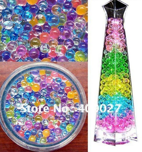 Free shipping New 10 Bags Crystal Mud Soil Water Beads Bio Gel Ball For Flower/Weeding/Deraction(China (Mainland))