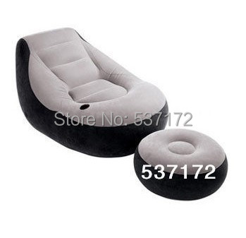 Flocking inflatable sofa leather sofa leisure sofa bed chair sent footstool Free Shipping(China (Mainland))