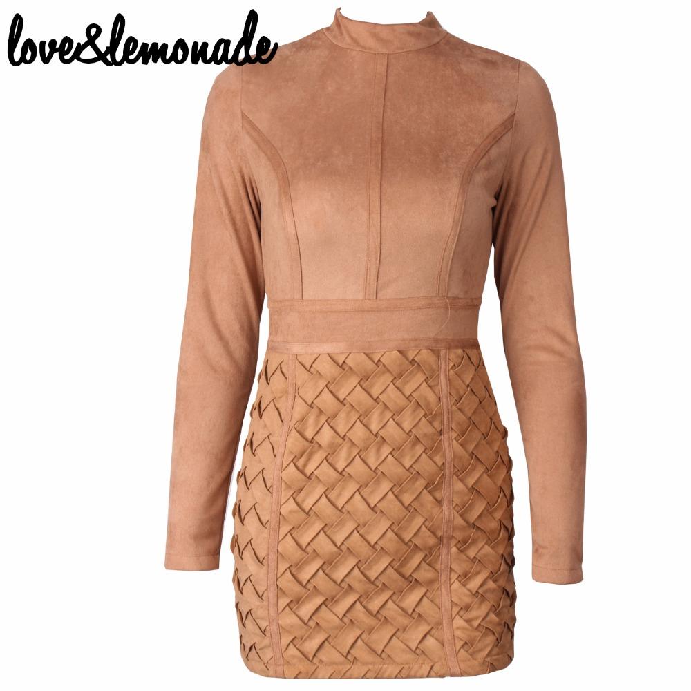 Love&Lemonade 3D Geometric Artificial Leather Mini Dress TB 9829