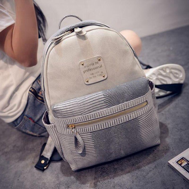 New Teenager Girl's Bag Fashion Women Velvet Backpacks Pleuche Casual Style Girls Zipper Bags Tide pu embossed female shoulder(China (Mainland))