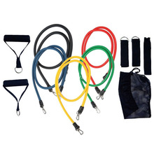11 Pcs Yoga Exercise Gym Fitness Tubes Tube Workout Resistance Latex Bands Set