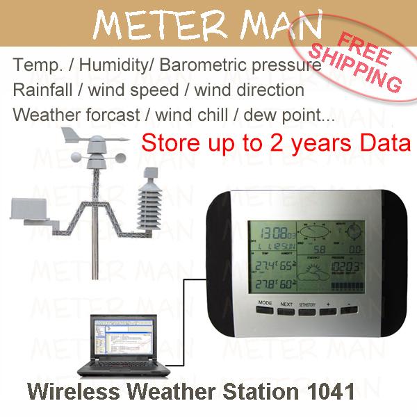 Data Store Temp. Humidity Rain Pressure Wind Speed Direction Wireless Weather Station Weather Center 1041(China (Mainland))