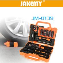 JAKEMY JM-8139 Precision 45 in 1 Repair Screw Tools Set Multi Bit Screwdriver with Tweezers Suitable for PC / Phone