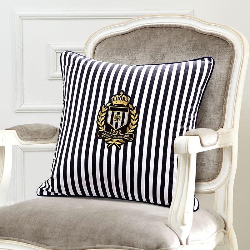 18 navy Style Cushion Cover stripe pillow covers decorative sofa cushion pillowcases High grade