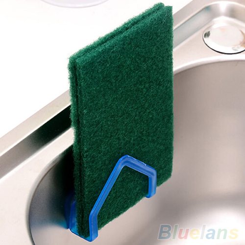 Kitchen Tools Gadget Decor Convenient Sponge Holder Suction Cup Sink 1U8H 2Z15