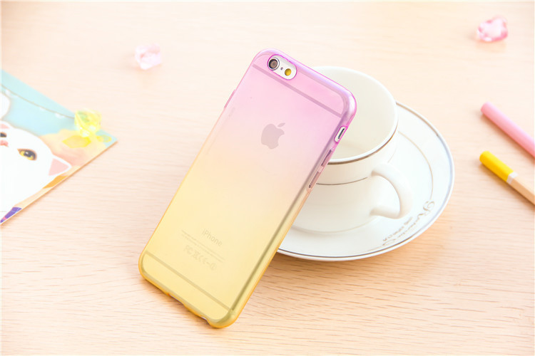 Fashion Gradient TPU Clear Transparent For Apple Iphone 6S case 4.7 inch Back Cover Skin Protective Phone Cases For iphone 6 i6