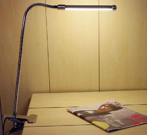Led reading eye protection desk lamp with Clip two level brightness switch dimmer table lamp,1pcs/lot(China (Mainland))