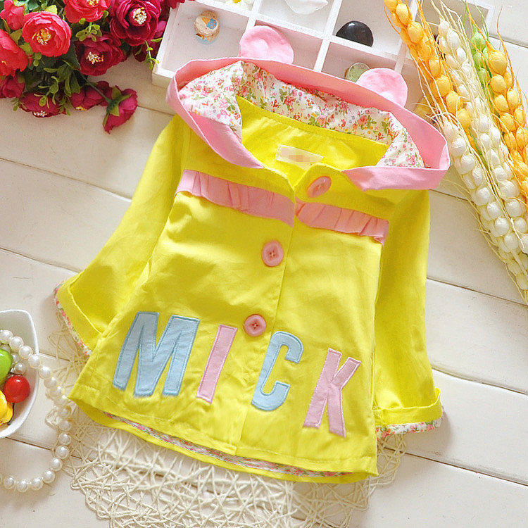 New 2015 Children's Clothing Baby Girls Outerwear Cute Girls' Patchwork Jacket Cardigan Kids Fall Clothes Child Top Wear 80419(China (Mainland))