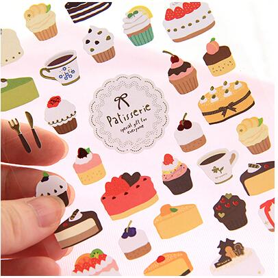 Детские наклейки New Scapbook /etiqueta engomada /no.0024 Cake детские наклейки spiegelburg наклейки prinzessin lilifee 11990