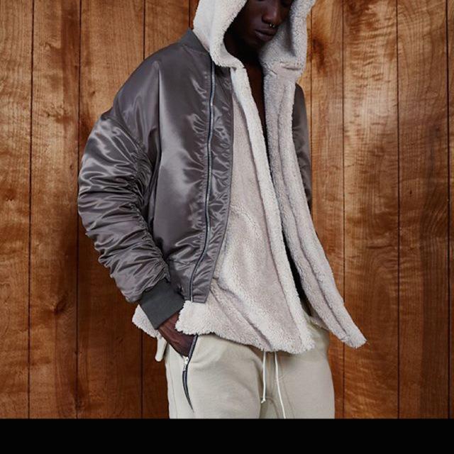 New Mens Sherpa hoodie kanye west streetwear hip hop yeezy skateboard urban clothing Outerwear Men's Jacket free shipping(China (Mainland))