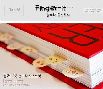 Creative FINGER type sticky Notepad Bookmark Finger Shape Memo Pad Note Paper Sticky(200 pages) Free Shipping