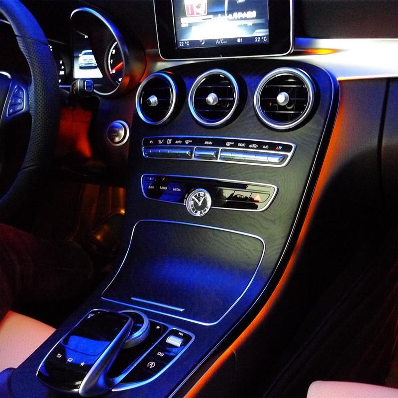 Mercedes Benz C MB W205 or GLC 2014 2015 2016 Dashboard Interior Original Factory advanced Ambient Orange Light