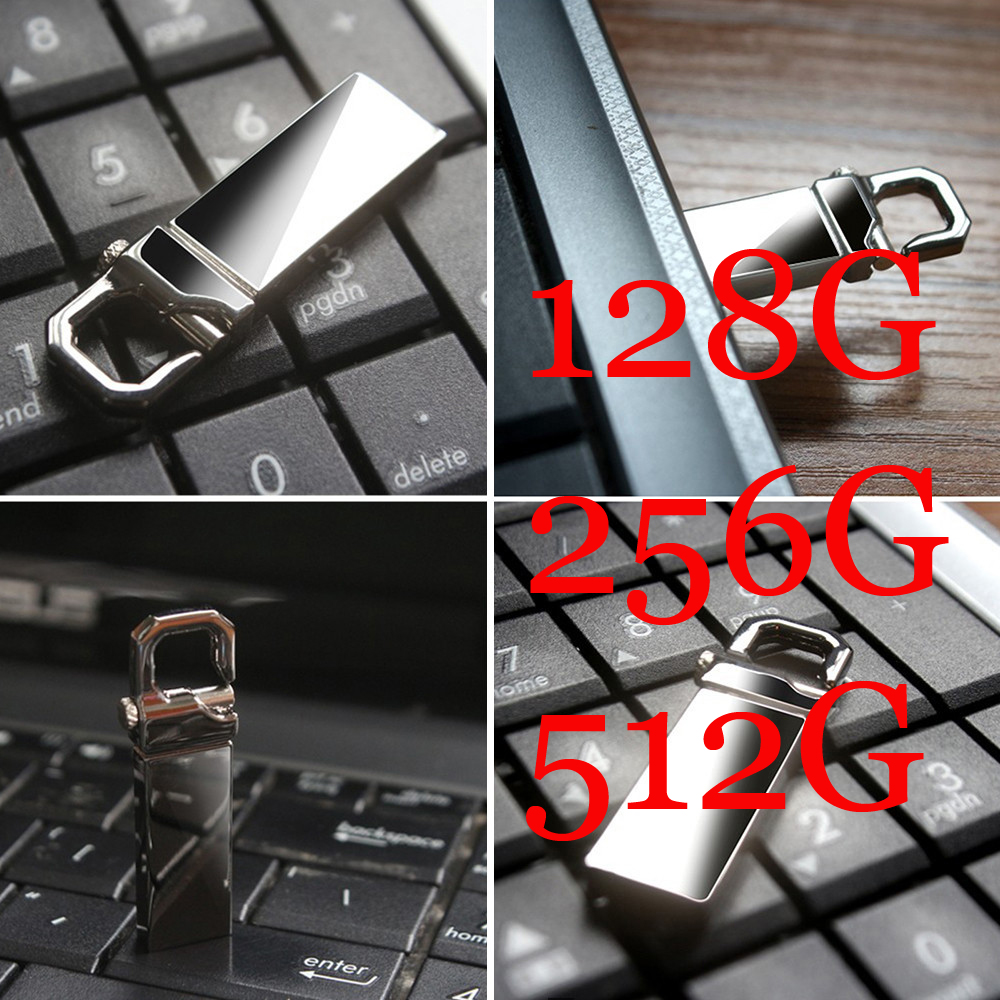 wholesale USB Flash Drive Metal Pendrive High Speed USB Stick 128GB 256GB Pen Drive Real Capacity 512GB USB Flash Free Shipping(China (Mainland))