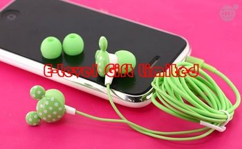 #A0062 DHL Free Shipping 170pcs/lot 3.5mm Mickey Mouse Stereo Earphone Mickey Headphone for MP3, iPod Cartoon Earpiece