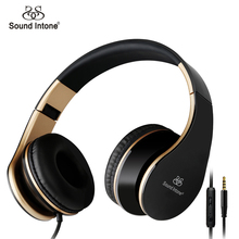 Sound Intone I65 Headphones with Microphone and Volume Control Foldable Headset for iPhone 6/6s iPad/iPod, Android Device(China (Mainland))