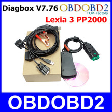 Newest V7.76 Diagbox Lexia3 V48 Auto Diagnostic Tool Lexia 3 PP2000 V25 Lexia-3 Full Function OBD2 Car Vehicle Scanner Inteface(China (Mainland))