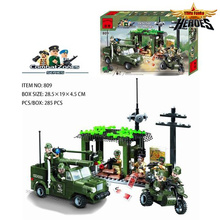 Buy Military Building Block Set Compatible ed Army Command Headquarters 3D Construction Brick Educational Toys Lbk_qm_041 for $9.80 in AliExpress store