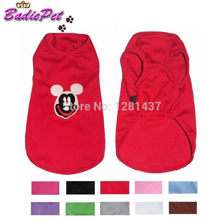 Retail 10 Colors 5 Sizes Available! Cute MICKY-HEAD Pattern Vestee Dog Tank Top! 10% off for 2pcs!(China (Mainland))