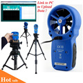 HoldPeak HP 866A Portable USB Anemometer Wind Speed Meter Wind Logger Air Speed and Temperature Measure