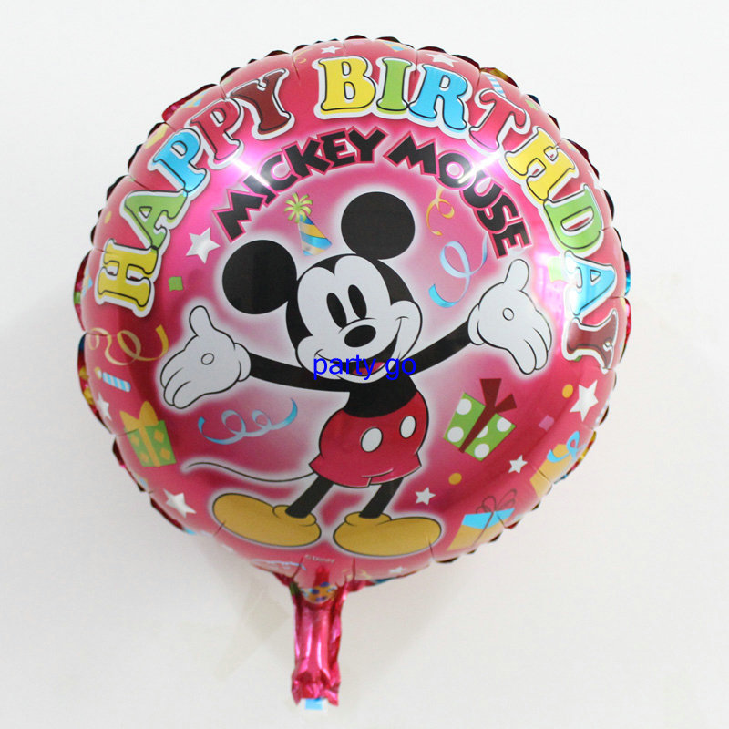 NEW 50pcs/lot 45*45cm happy birthday foil mickey mouse balloons boys mickey mouse party supplies balloons for mickey mouse party<br><br>Aliexpress