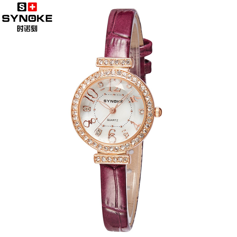 Free Shipping 2015 Current Fashion Red Leather Strap Business Clock Wristwatches Quartz Female Casual Lady Women watch(SN5206)<br><br>Aliexpress