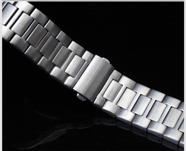 Нержавеющая сталь ремешок для часов часы из нержавеющей стали ремешок адаптер мужчины смотреть 25 мм мужской бабочка полосы