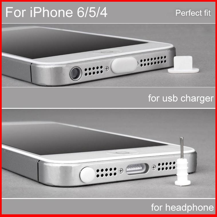 dust plug for phone Headphone & Charger USB Anti Cap Stopper for iPhone 6 &5 5S &4 capinha de celular