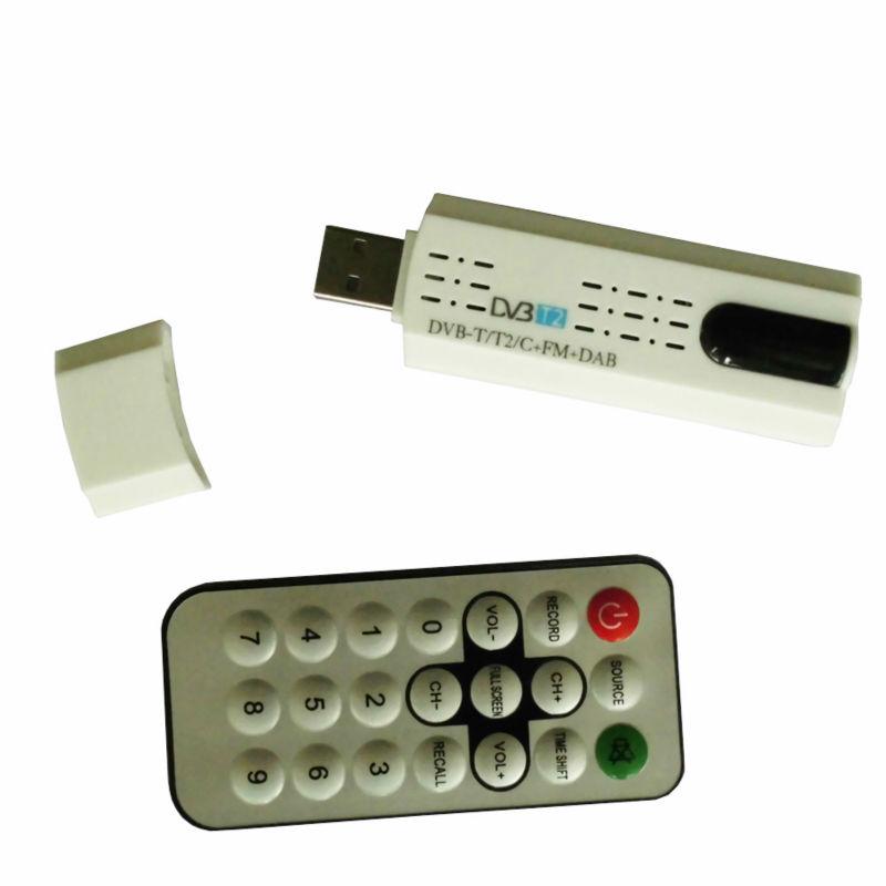 DVB t2 DVB C USB tv Tuner Receiver with antenna Remote Control HD TV Receiver for DVB-T2 DVB-C FM DAB USB Tv stick(China (Mainland))