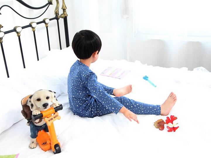 Cute Pyjama Children,Pyama Children Boys,Girls Sleepwear,2016 New Cotton Cloth Full Sleeve Home Amusement 2Pcs Sleepwear Go well with 031610 (8)
