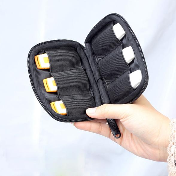 Factory Price! Black Portable 6 USB Flash Drives Carrying Case Storage Bag Protection Pouch Bag(China (Mainland))