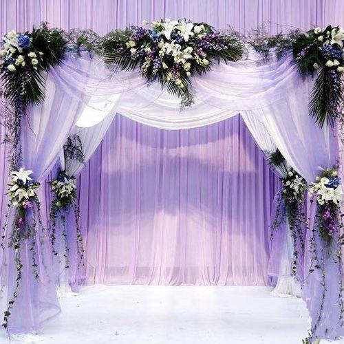 Size 48CM*4.5M Wedding Decoration Organza Silk Flower Heart-shaped Arches Sheer Crystal Organza Fabric Flower Door Free shipping(China (Mainland))