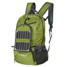 ECEEN Hiking Backpack Foldable Lightweight Solar Daypacks Solar Bags&3.25W Solar Panel Charger&2000mAH Battery for Smart Phone(China (Mainland))