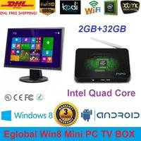 PIPO X7 Fanless Mini PC Win8 Better Than TV Box 2G Ram 32G EMMC HTPC Bay Trail T Intel NUC Quad Core 2.16GHz DHL Free Shipping