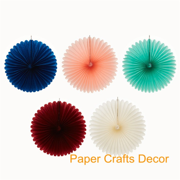 8inch=20cm Foldable Tissue Paper Pinwheel Fans Hanging Wall Decorations For Birthday Wedding Baby Shower Party