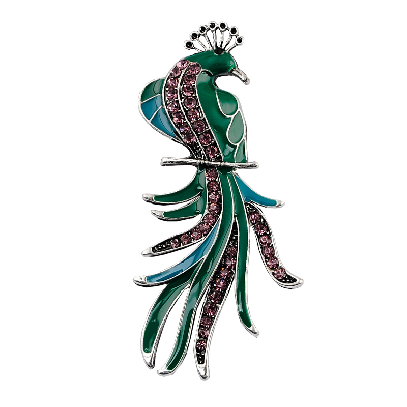 Free shipping Paint rhinestone brooch wedding brooch Birds fashion jewelry good gift(China (Mainland))