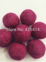 Wholesale 200PCS/Lot 20MM Fuchsia Color Wool Felt Ball Handmade DIY Curtain Decoration Ball Woven Balls for Rug Home Decor(China (Mainland))