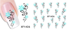 Nail Stickers Nail Art Gift Water Transfer Beauty Flower Design DIY Manicure Stamping Nail Tools XF1426