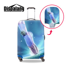 Buy Dispalang 3D ballet pointe shoes printed travel luggage suitcase protective cover stretch elastic waterproof trolley case covers for $14.97 in AliExpress store