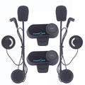 2pcs 2016 Updated Version Original BT Bluetooth Motorcycle Helmet Intercom Interphone Headset Communicator with FM Radio