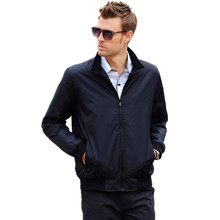 2016 Spring New M~XXXL Men's Solid Fashion Jacket Male Casual Slim Fit  Stand Collar Jacket 2 Colors M-XXXL(China (Mainland))