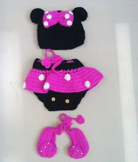 Free Crochet Pattern Minnie Mouse Diaper Cover : Aliexpress.com : Buy Newborn Baby Girl Crochet Minnie ...