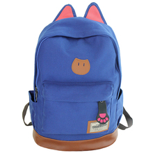 2017 Campus Women Girls Backpack Travel Bag Young Canvas Men Brand Fashion School Simple Cat Ears Bags Boy - J S -Y .X .TE-Commerce Co., Ltd Store store