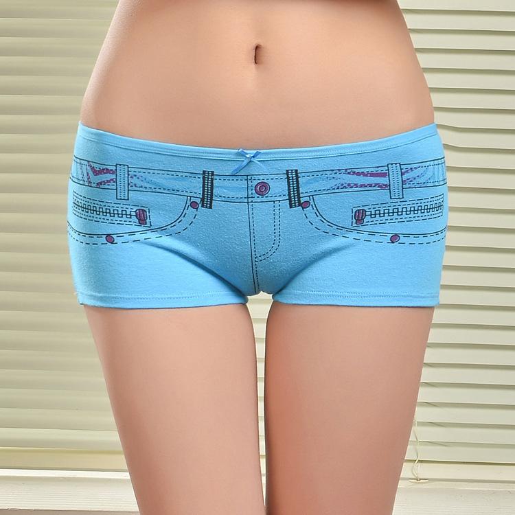 Girls wearing boy shorts underwear