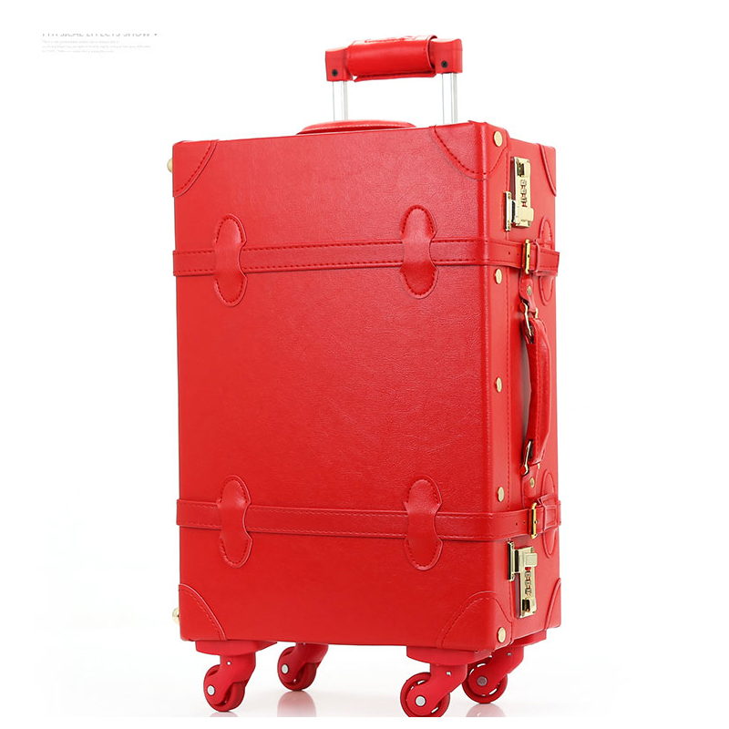 Red Leather Luggage | Luggage And Suitcases