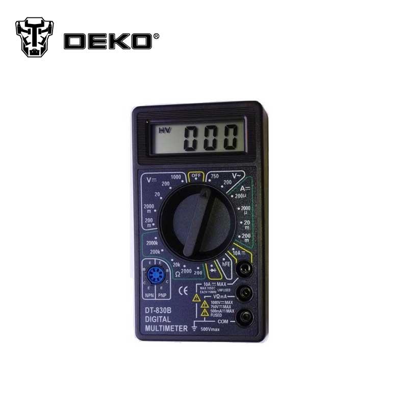 DEKO High Quality Digital Multimeter DCV ACV DCA OHM Volt Tester Test Current Digital LCD Screen Measure Tool(China (Mainland))