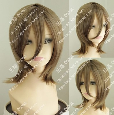 2015 new wig Free shipping cosplay wig 12 inches brown short hair wigs Costume party wigs Japanese anime show a wig<br><br>Aliexpress