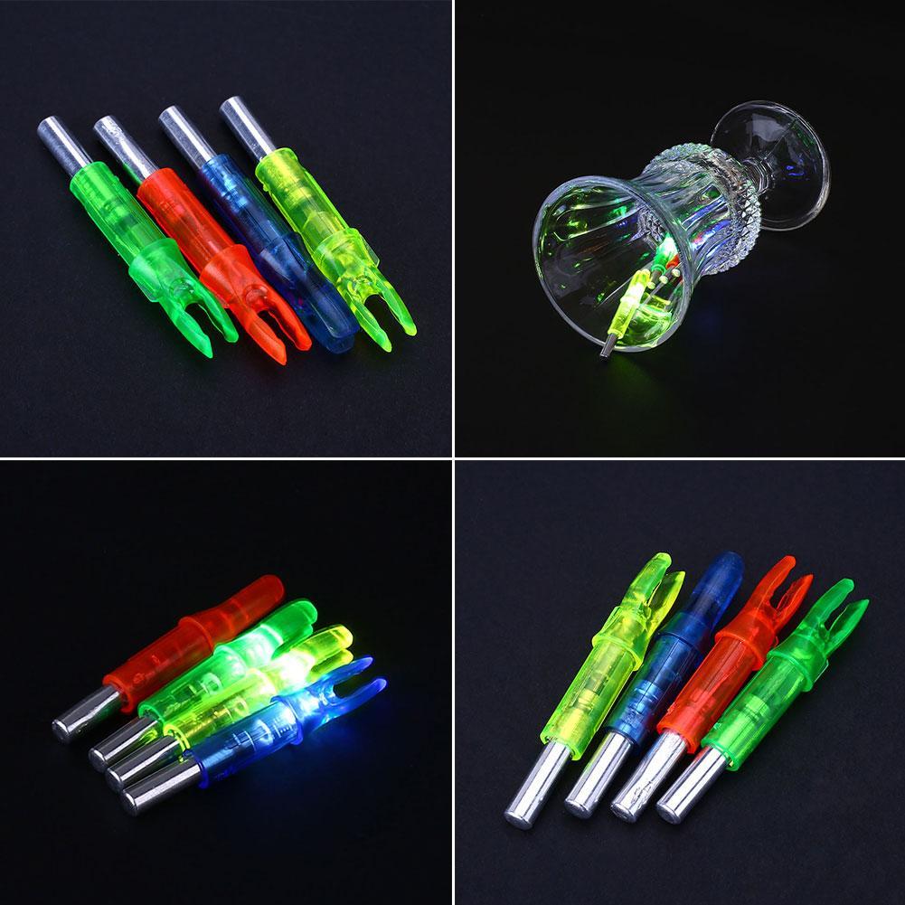 1Pcs Archery LED Light Lighted 6.2mm Arrow Nocks Bright Lighting Inside for Hunting Target Shooting(China (Mainland))
